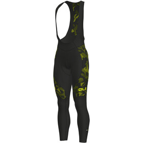Alé Cycling Graphics PRR Glass Culotte largo con tirantes Hombre, nero-glo fluo/black-yellow fluo